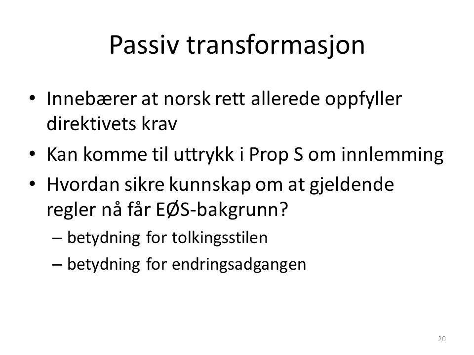 Passiv transformasjon