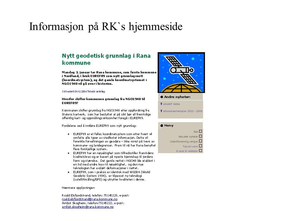 Informasjon på RK`s hjemmeside