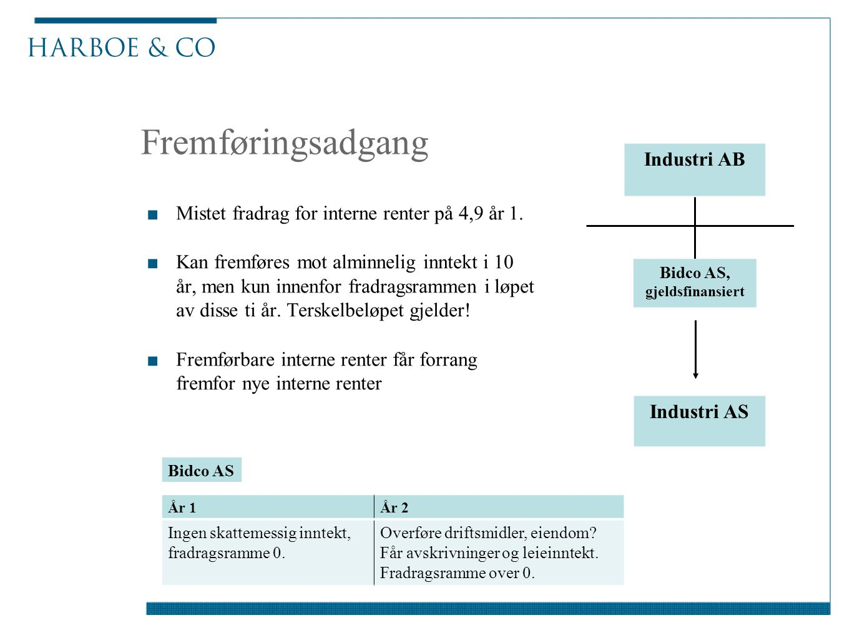 Bidco AS, gjeldsfinansiert