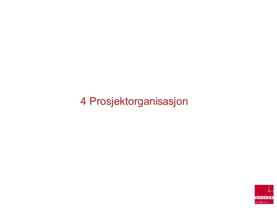 4 Prosjektorganisasjon