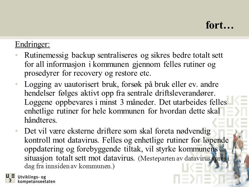 fort… Endringer: