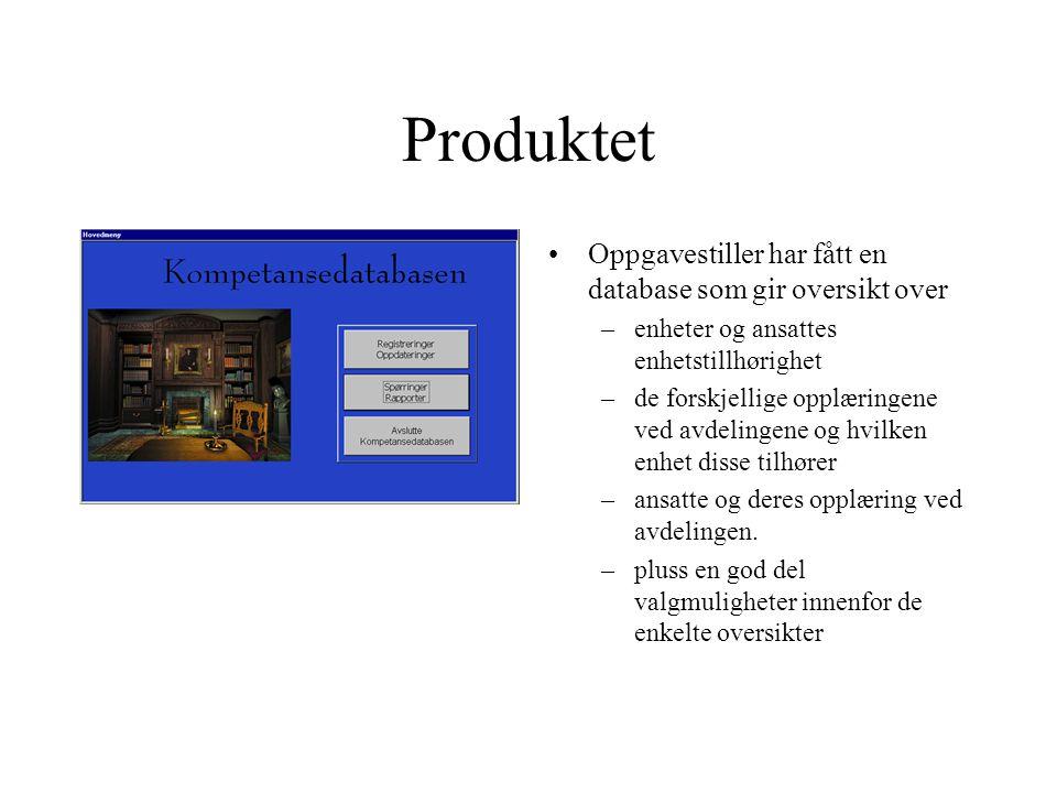 Produktet Oppgavestiller har fått en database som gir oversikt over