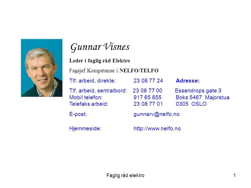 Gunnar Visnes Leder i faglig råd Elektro