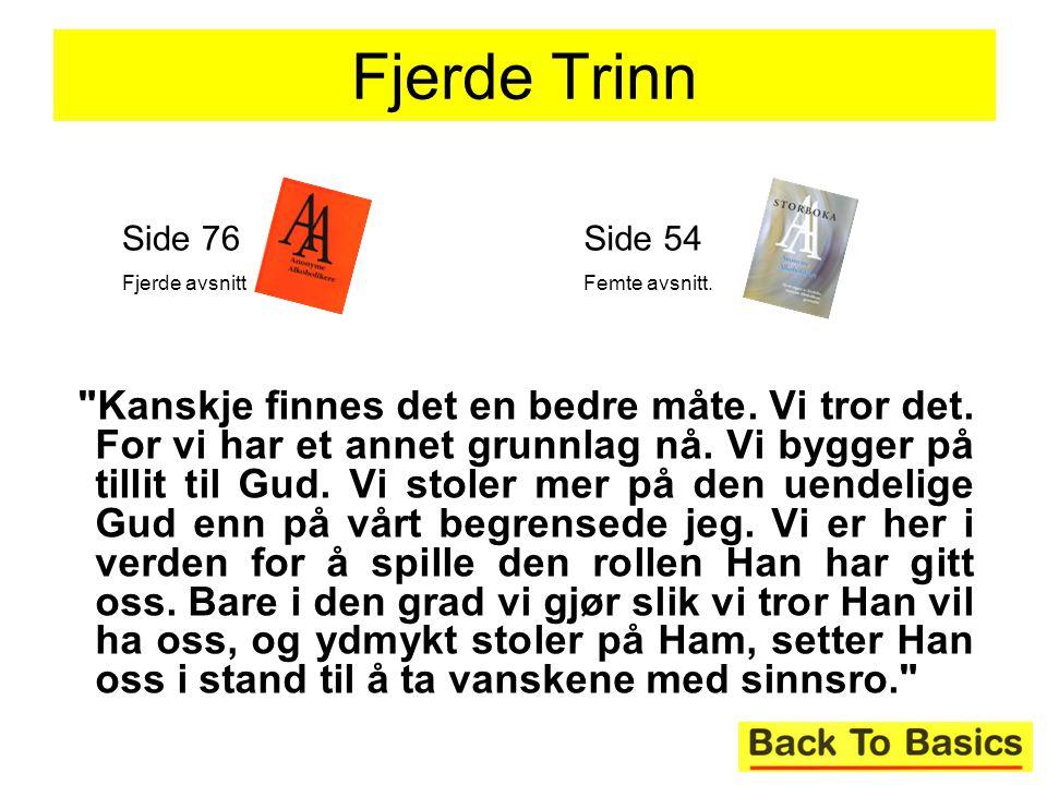 Fjerde Trinn Side 76. Fjerde avsnitt. Side 54. Femte avsnitt.