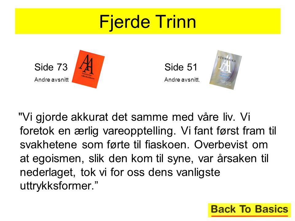 Fjerde Trinn Side 73. Andre avsnitt. Side 51. Andre avsnitt.