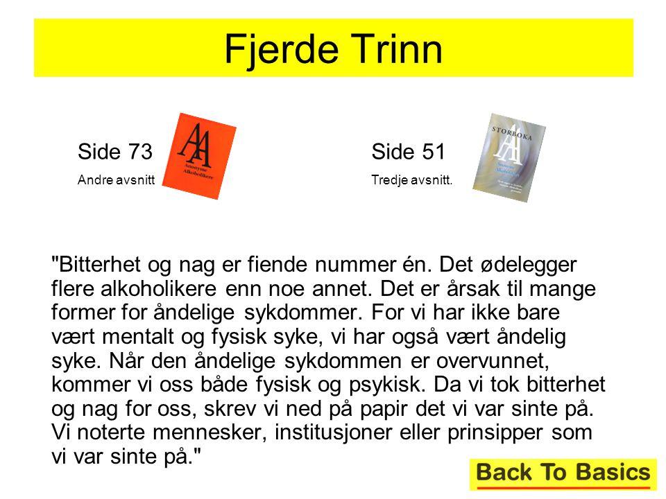 Fjerde Trinn Side 73. Andre avsnitt. Side 51. Tredje avsnitt.