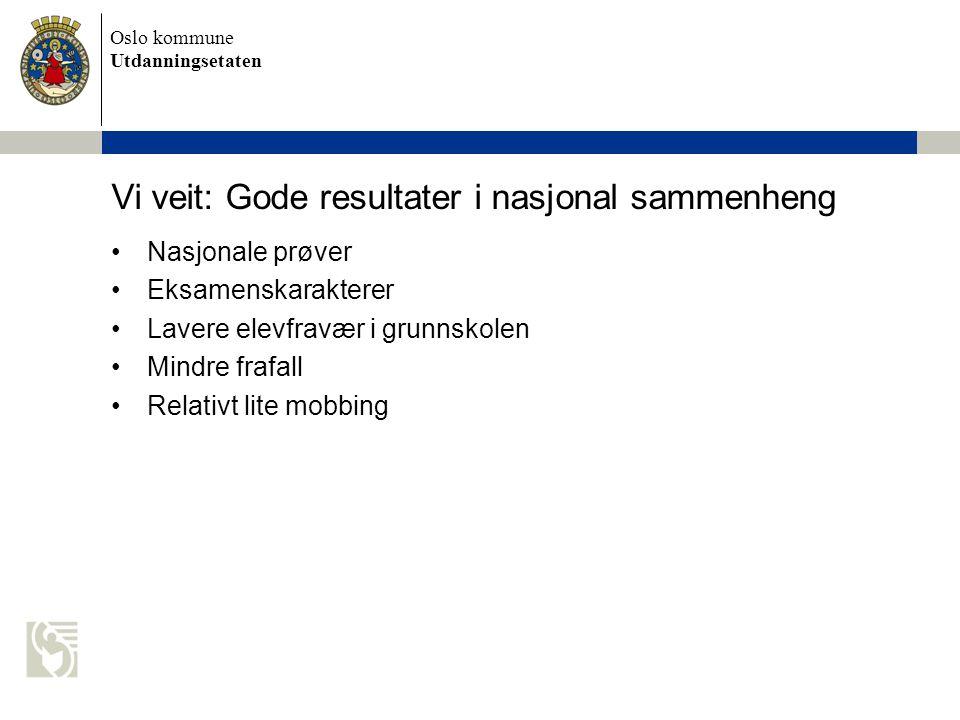Vi veit: Gode resultater i nasjonal sammenheng