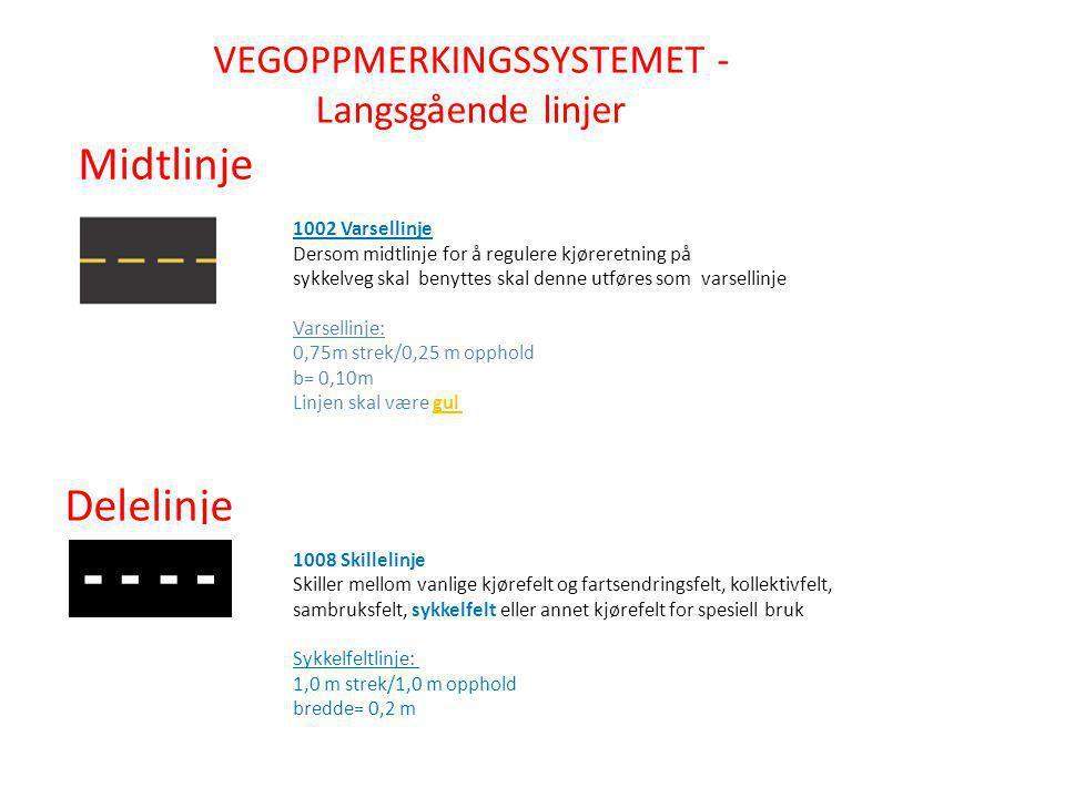 VEGOPPMERKINGSSYSTEMET - Langsgående linjer
