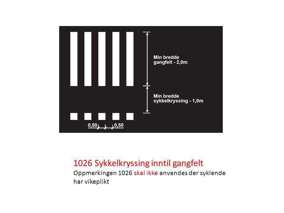 1026 Sykkelkryssing inntil gangfelt