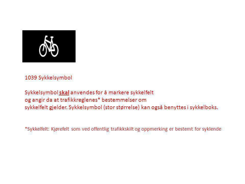 Sykkelsymbol skal anvendes for å markere sykkelfelt
