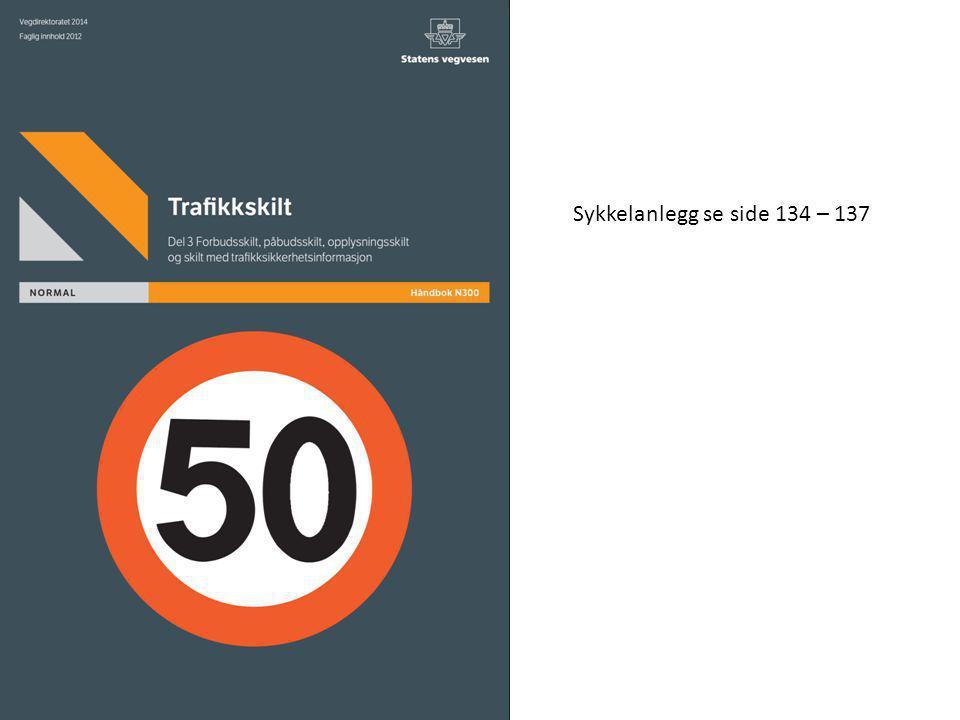 Sykkelanlegg se side 134 – 137