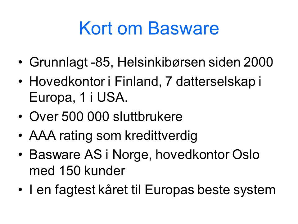 Kort om Basware Grunnlagt -85, Helsinkibørsen siden 2000