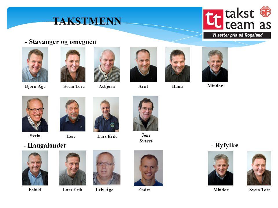 TAKSTMENN - Stavanger og omegnen - Haugalandet - Ryfylke Bjørn Åge