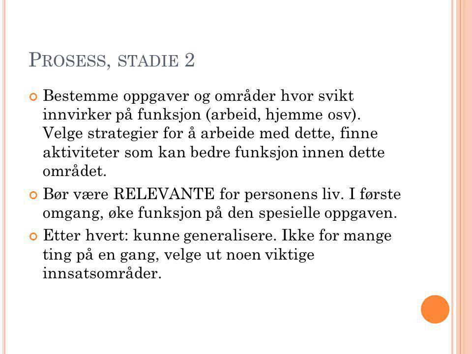 Prosess, stadie 2