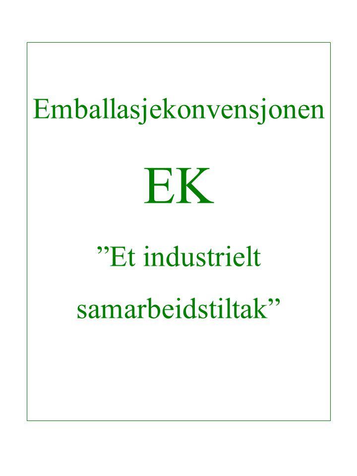 Emballasjekonvensjonen EK Et industrielt samarbeidstiltak