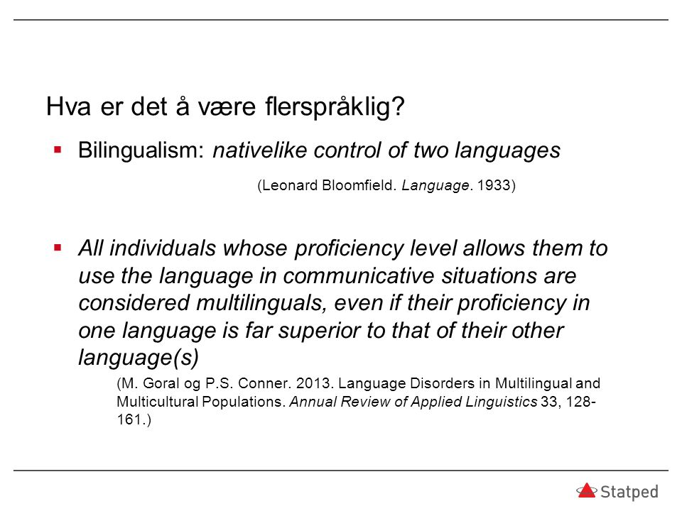 Hva er det å være flerspråklig