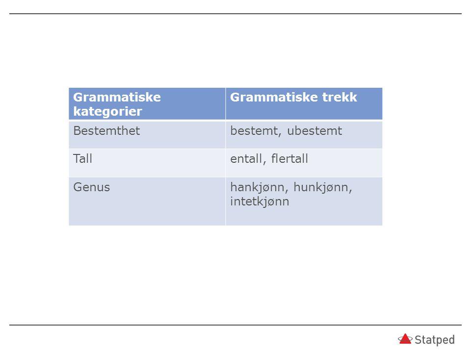 Grammatiske kategorier