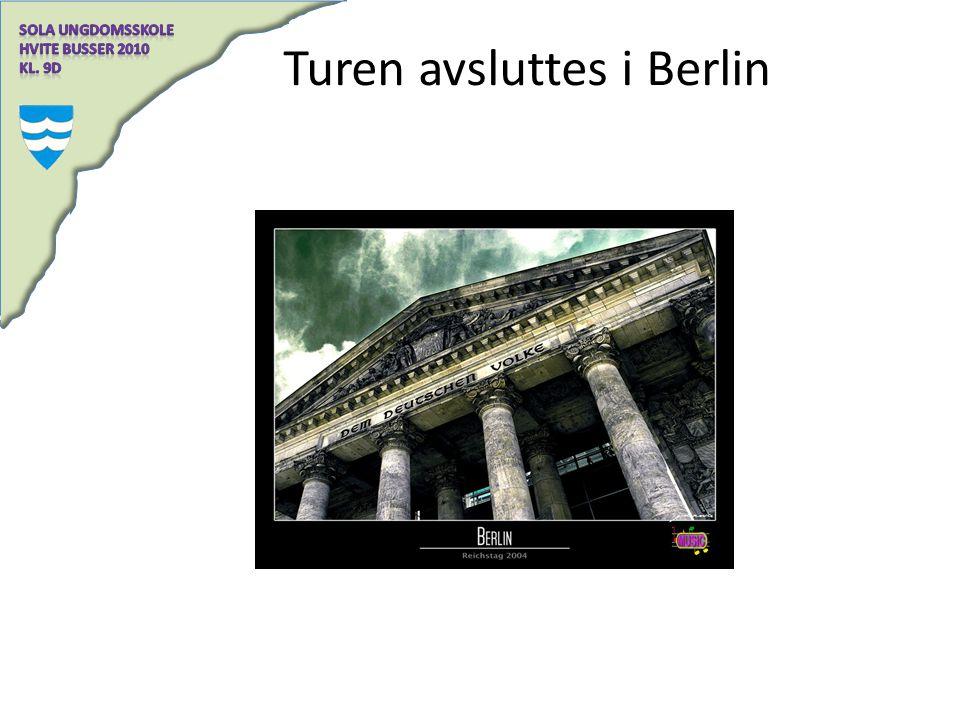 Turen avsluttes i Berlin
