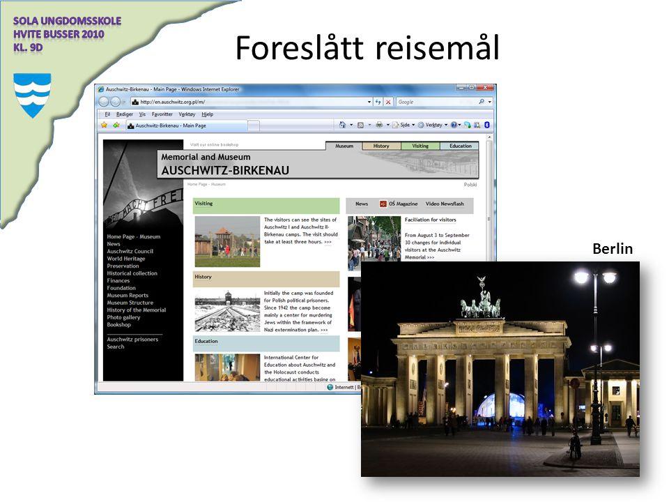 Foreslått reisemål Berlin