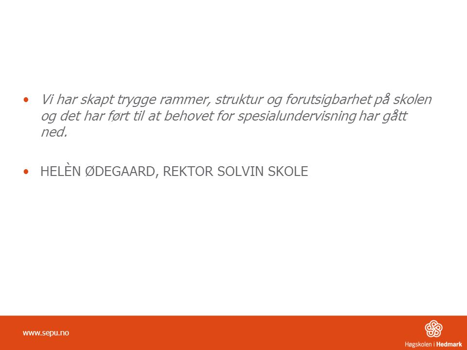 HELÈN ØDEGAARD, REKTOR SOLVIN SKOLE