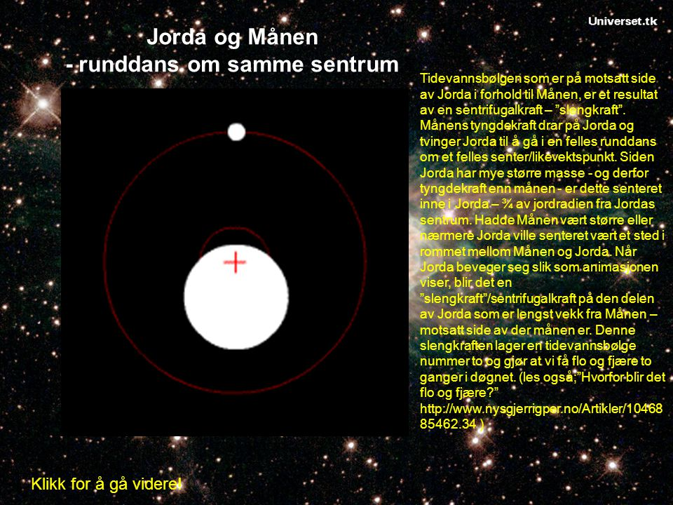 Jorda og Månen - runddans om samme sentrum