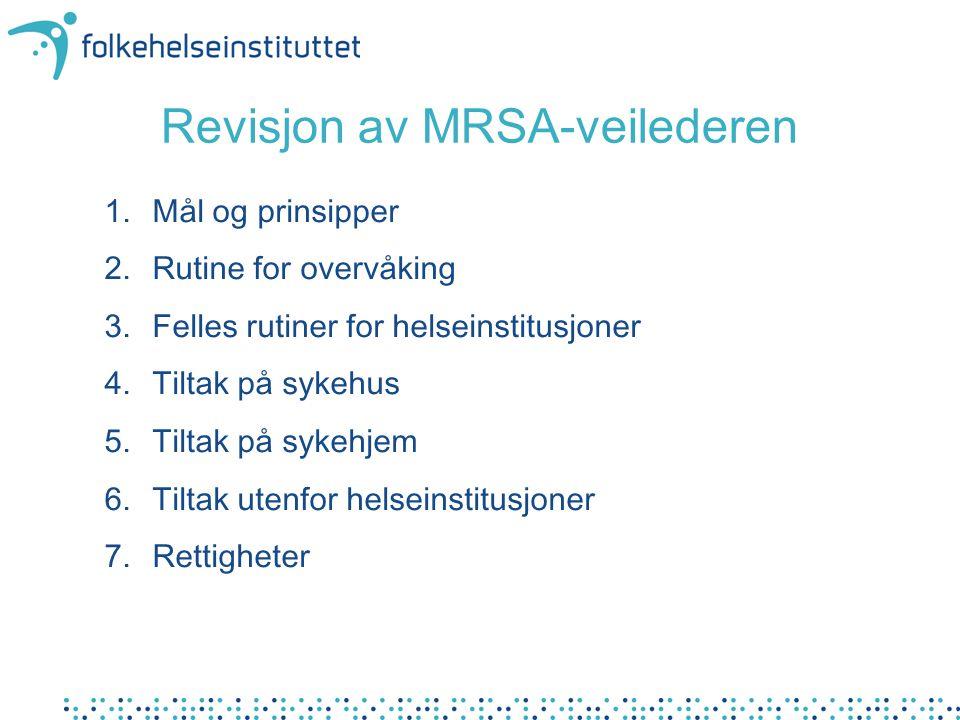 Revisjon av MRSA-veilederen