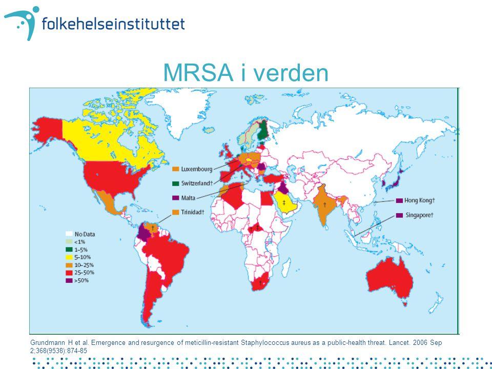 MRSA i verden Globale utfordringer