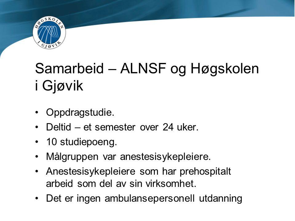 Samarbeid – ALNSF og Høgskolen i Gjøvik