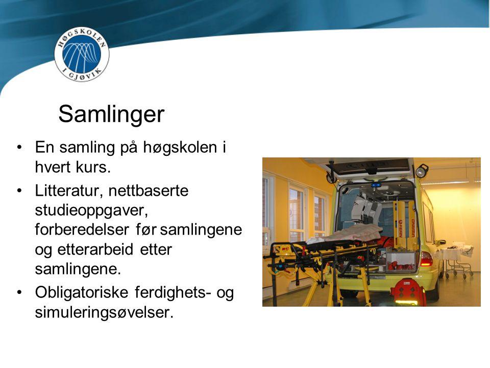 Samlinger En samling på høgskolen i hvert kurs.