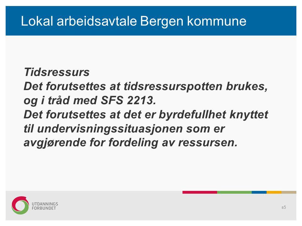 Lokal arbeidsavtale Bergen kommune