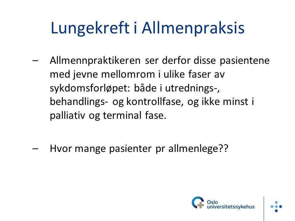 Lungekreft i Allmenpraksis