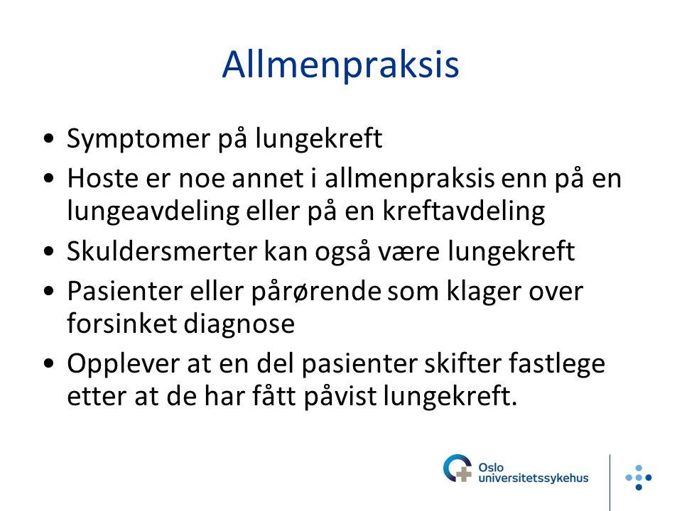 Allmenpraksis Symptomer på lungekreft