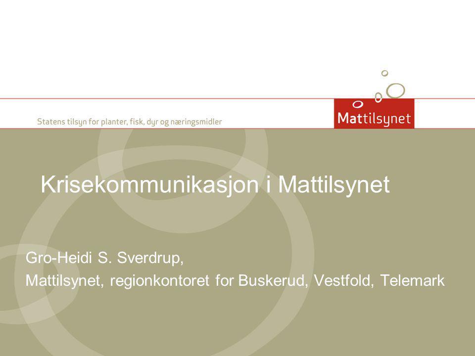 Krisekommunikasjon i Mattilsynet
