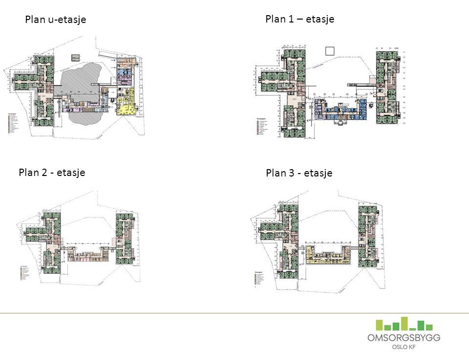 Plan u-etasje Plan 1 – etasje Plan 2 - etasje Plan 3 - etasje