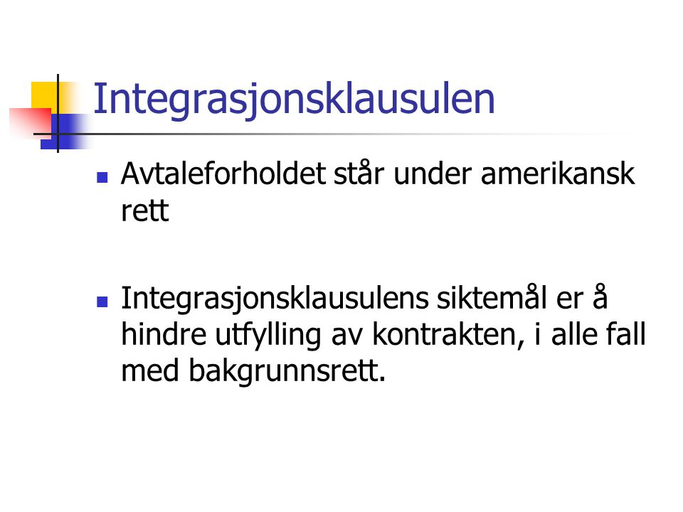 Integrasjonsklausulen