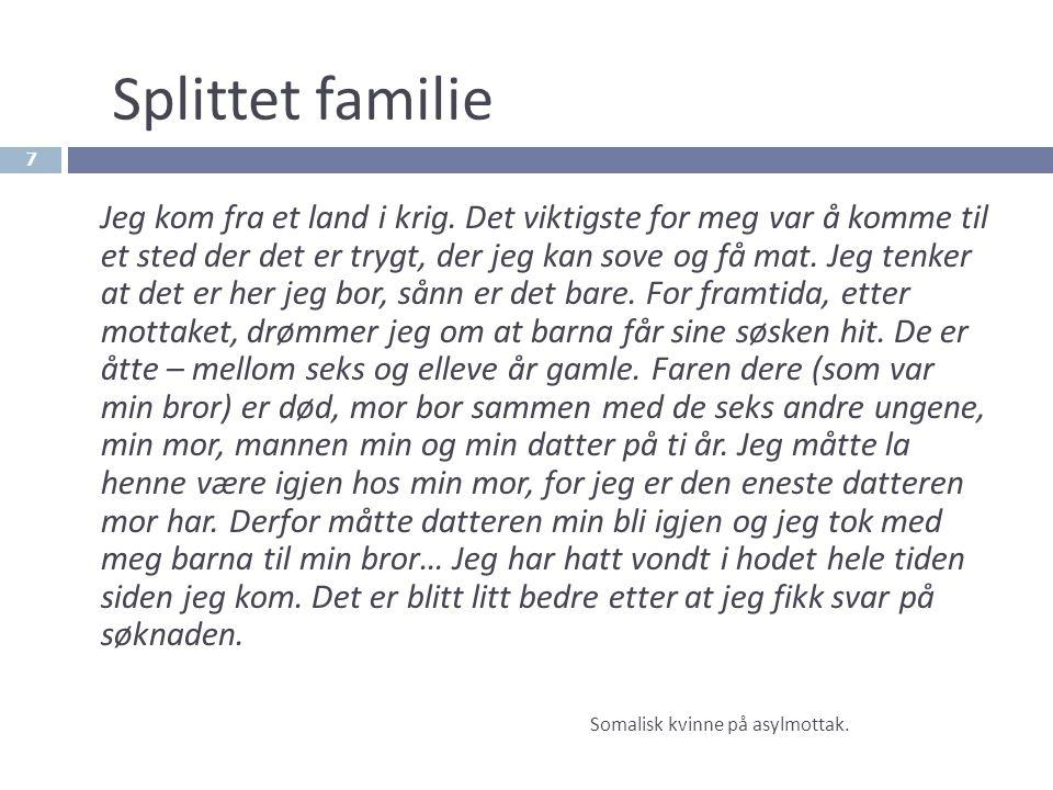 Splittet familie