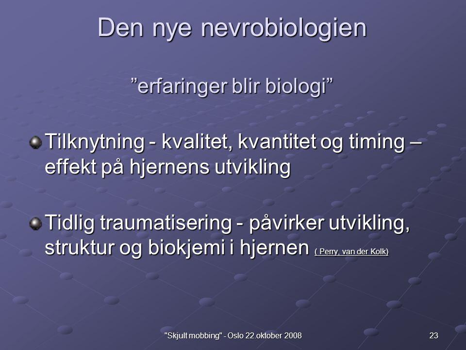 Den nye nevrobiologien erfaringer blir biologi