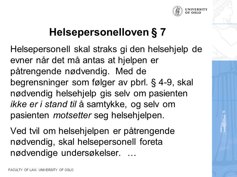 Helsepersonelloven § 7