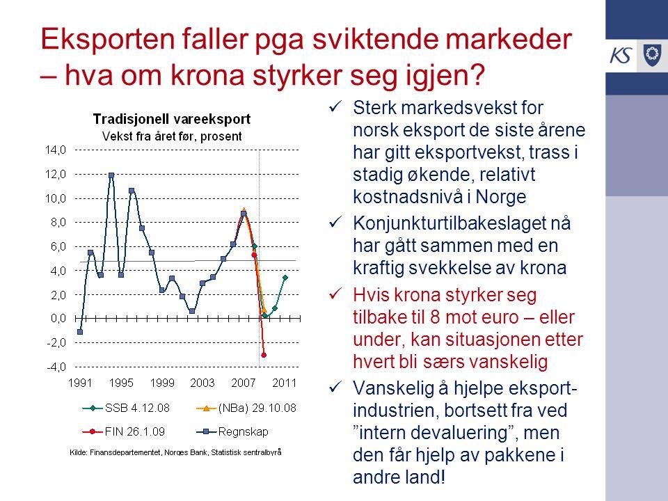 Eksporten faller pga sviktende markeder – hva om krona styrker seg igjen