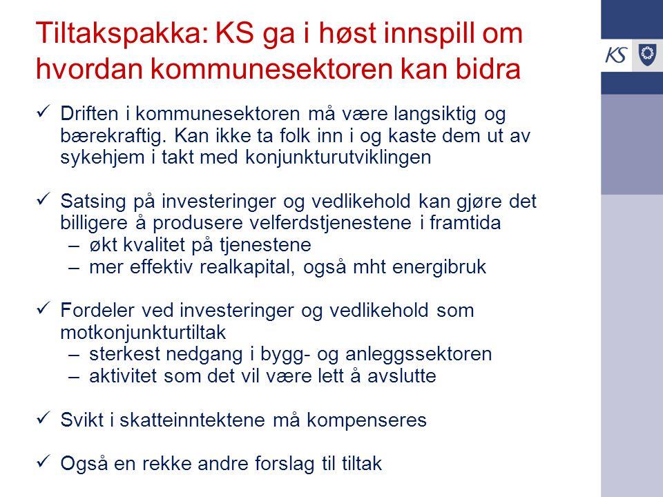 Tiltakspakka: KS ga i høst innspill om hvordan kommunesektoren kan bidra