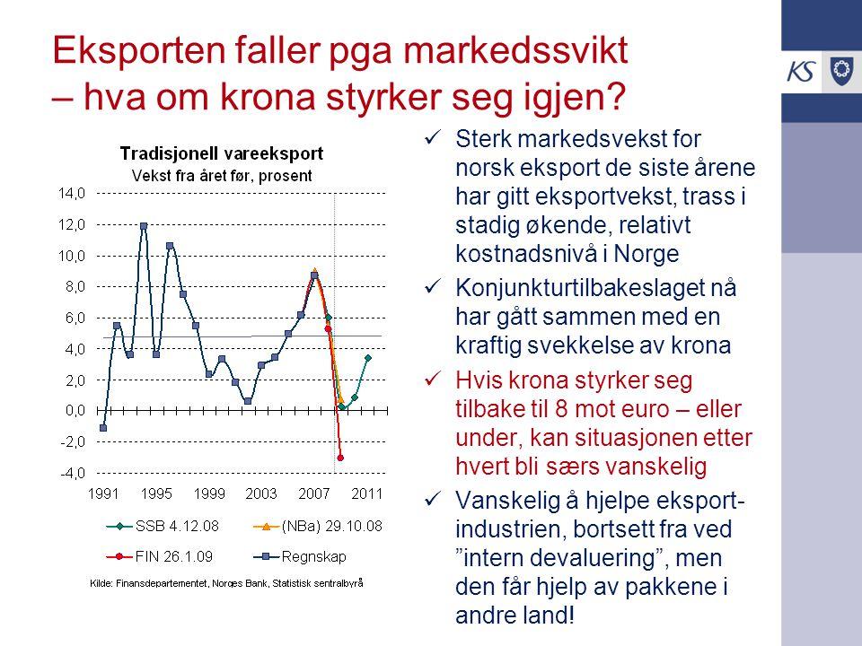 Eksporten faller pga markedssvikt – hva om krona styrker seg igjen