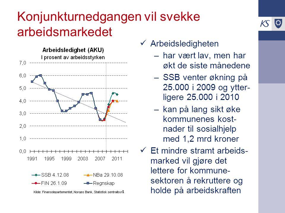 Konjunkturnedgangen vil svekke arbeidsmarkedet