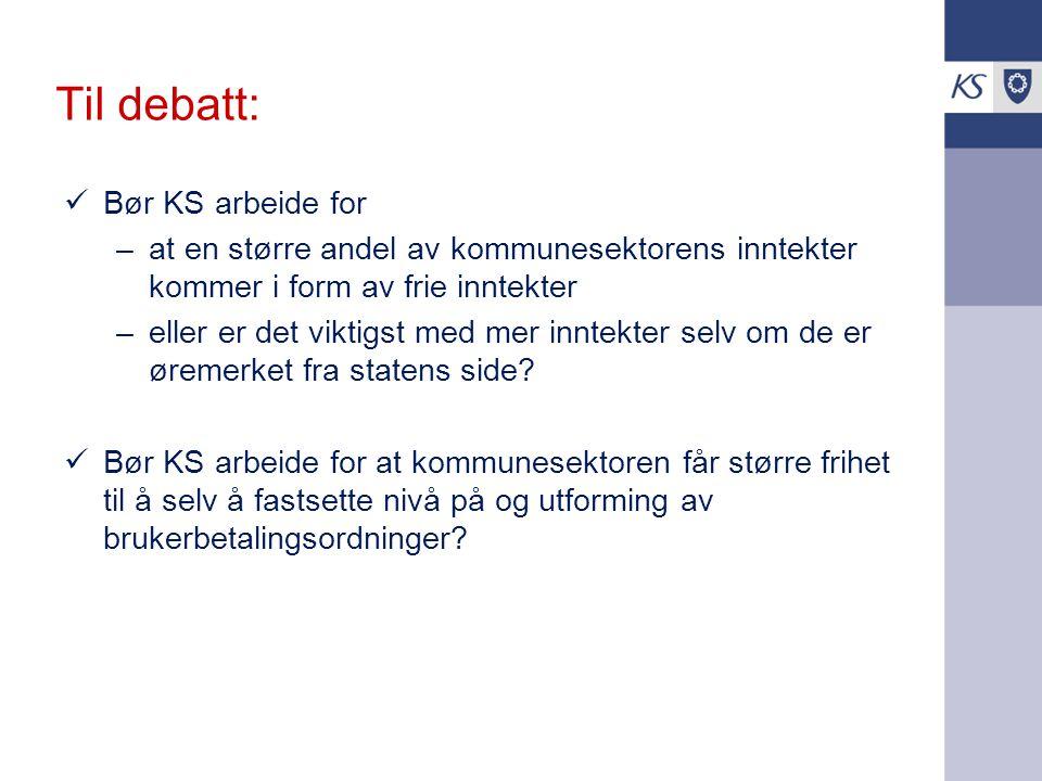 Til debatt: Bør KS arbeide for