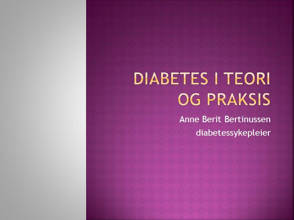 Diabetes i teori og praksis