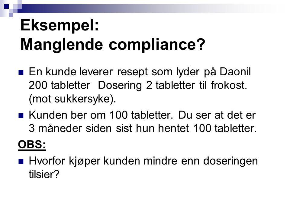 Eksempel: Manglende compliance