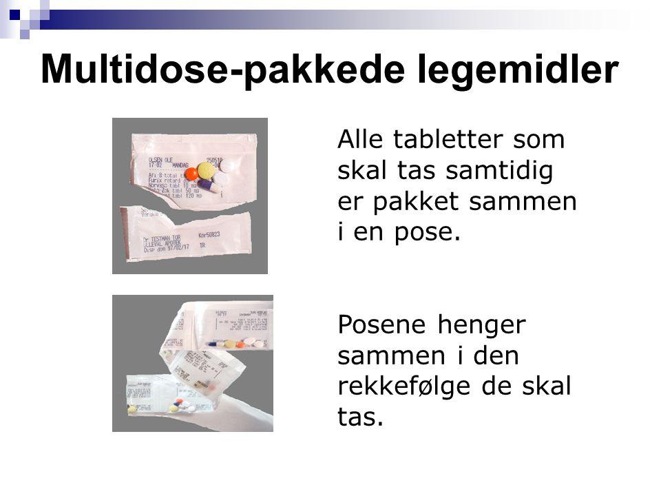 Multidose-pakkede legemidler
