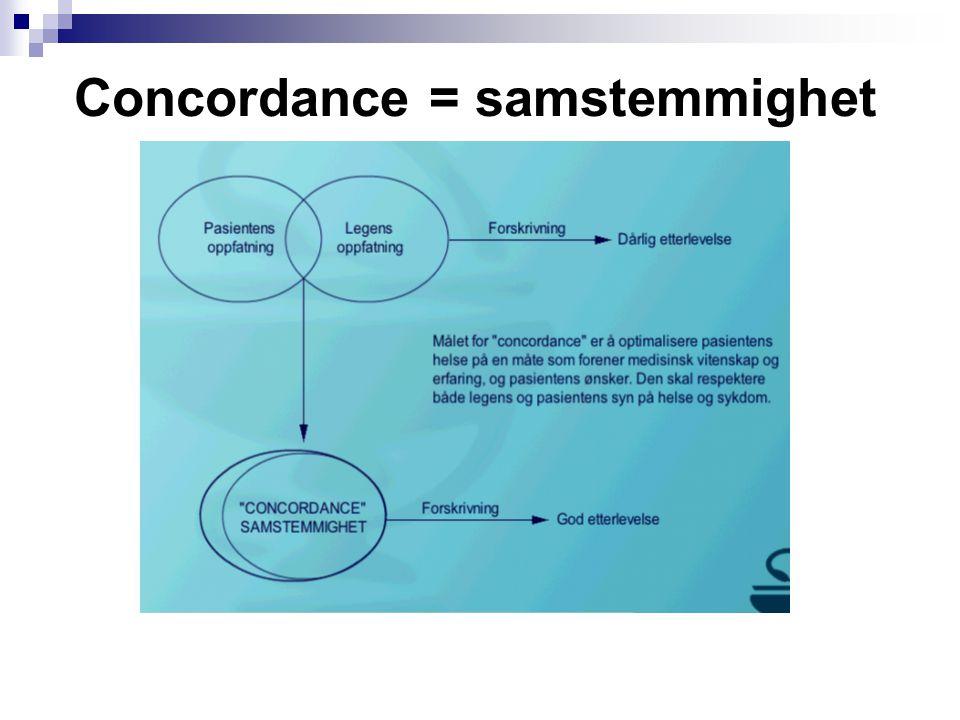 Concordance = samstemmighet