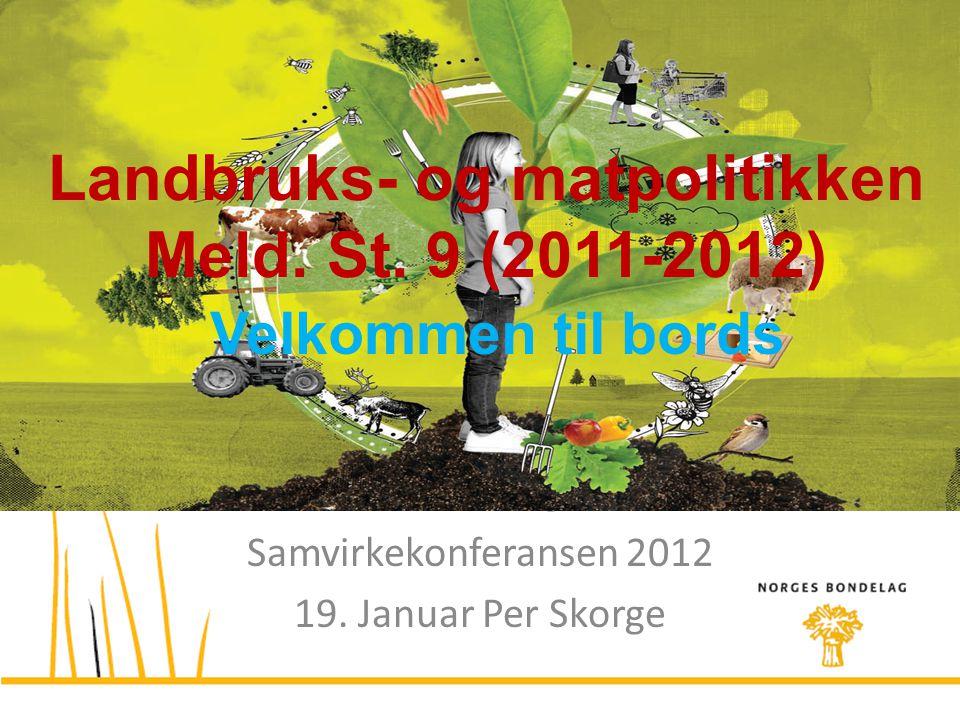 Landbruks- og matpolitikken Meld. St. 9 (2011-2012)