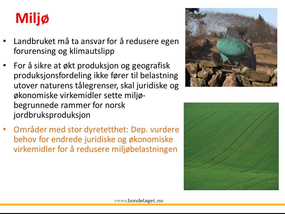 Miljø 10.09.2004. Landbruket må ta ansvar for å redusere egen forurensing og klimautslipp.