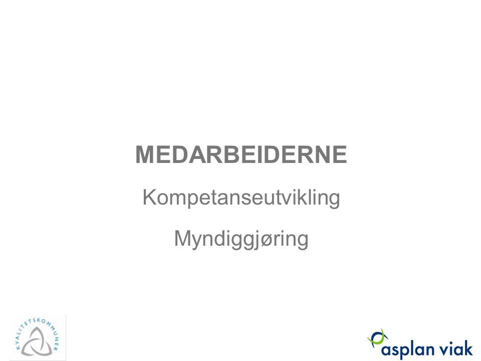 MEDARBEIDERNE Kompetanseutvikling Myndiggjøring